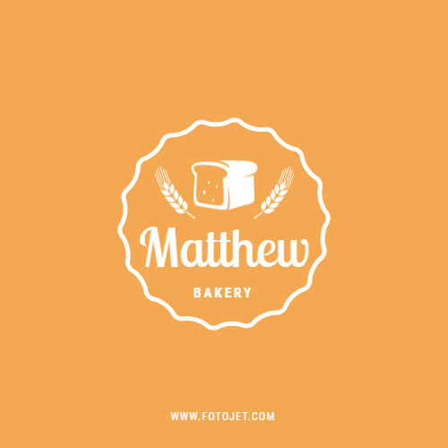 Wheat and Bread Bakery Logo Design Template
