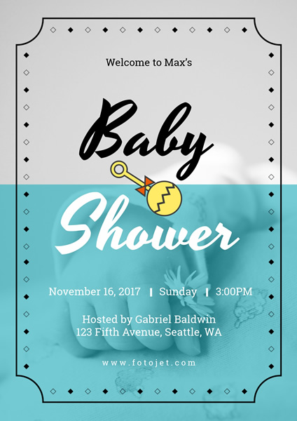 '.Baby Shower Poster Design Template.'