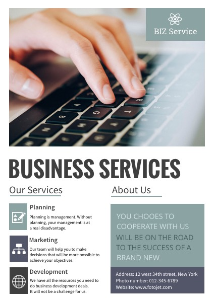 Business service company poster template fotojet business service company poster cheaphphosting Images
