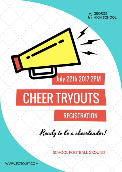 Cheer Tryout Registration Poster Template