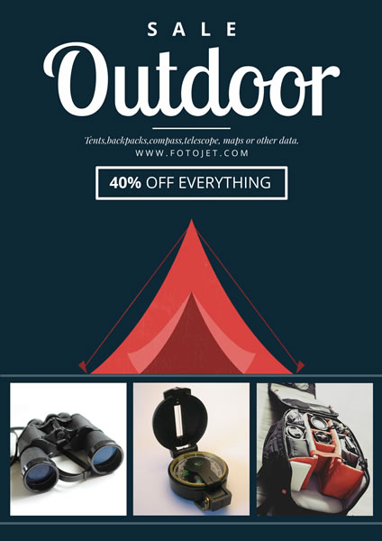 Outdoor Equipment Shop Sale Poster