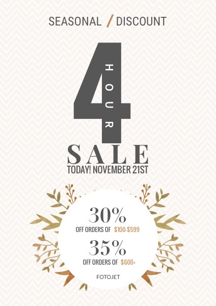 Clothing Season Sale  For Sale Poster Template