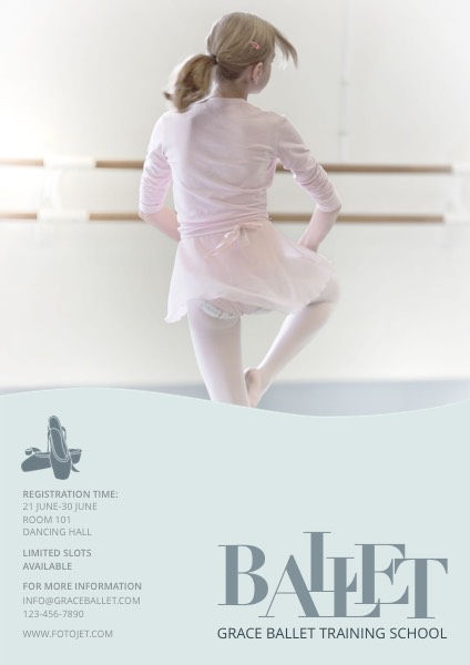 Ballet Dance School Poster Design Template