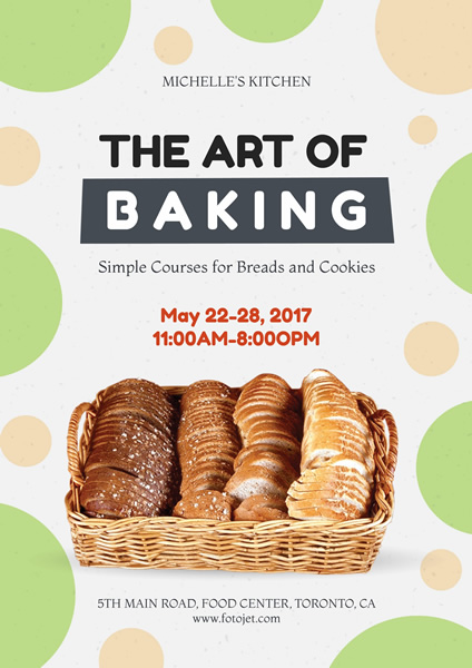 Baking Class Poster Design Template