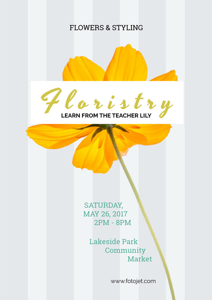 '.Flower Art Poster Design Template.'