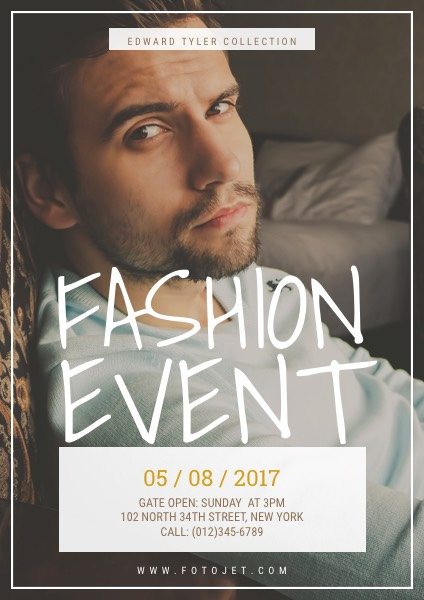 Fashion Event Poster Design Template