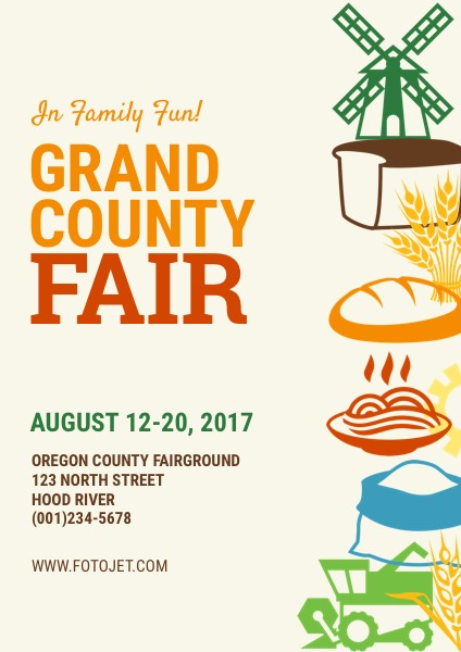 '.Grand County Fair Poster Design Template.'