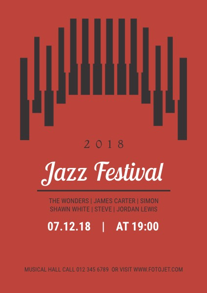 Jazz Music Festival Poster Design Template