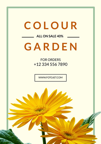 Flower Shop Promotion Poster Template
