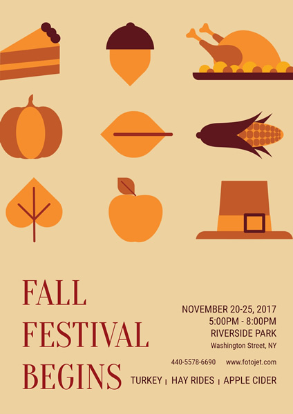 Fall Festival Poster Design Template