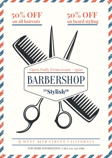 Barber Shop Poster for Sale