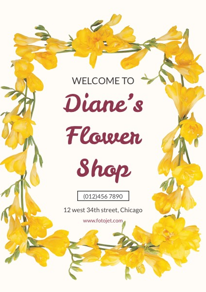 '.Flower Shop Welcome Poster.'