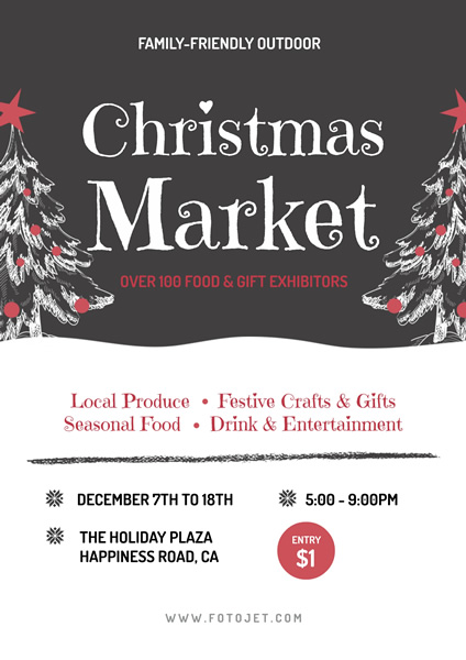 christmas market promotional poster template template fotojet