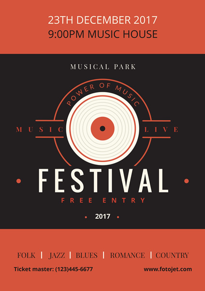 Music Festival Poster Design Template