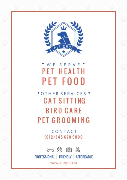 Pet Store Promotional Poster