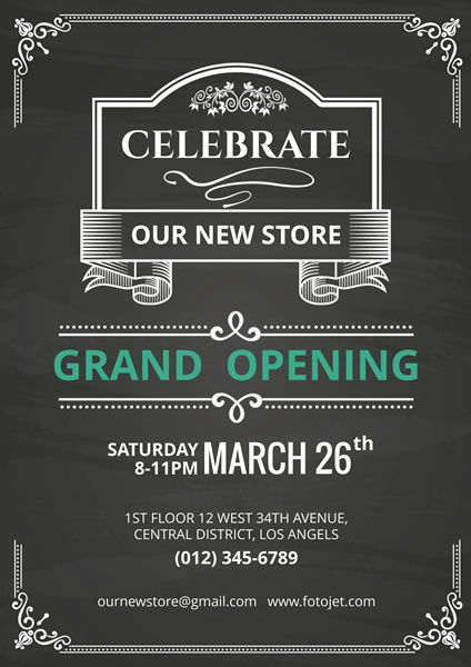 store grand opening celebration poster template fotojet