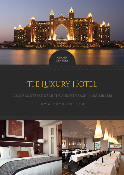 Luxury Hotel Promotional Poster Template