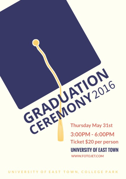 Graduation Flyer Template | Graduation Ceremony Poster Template Template Fotojet