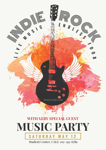Rock Music Party Poster Template