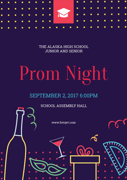 Prom Night Party Poster Template