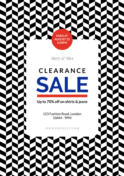 fashion store clearance sale poster template template fotojet