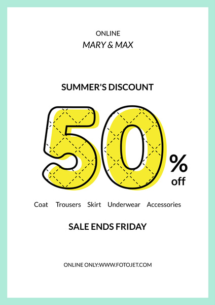 Clothing Store Summer Sale Poster Design Template