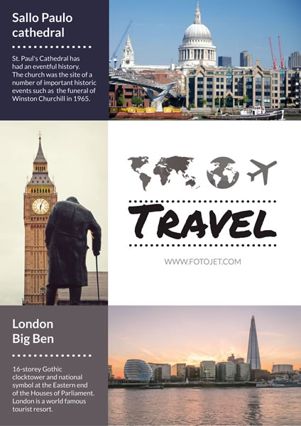 london attractions travel poster template