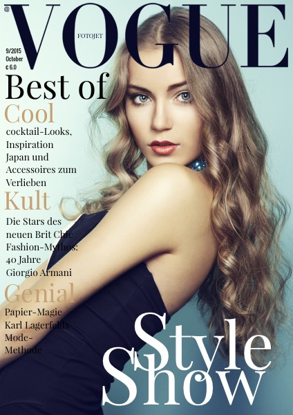 Fashion Vogue Magazine Cover Template Fotojet