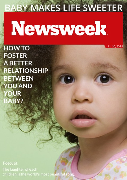 '.Baby Newsweek Magazine Cover Photo.'
