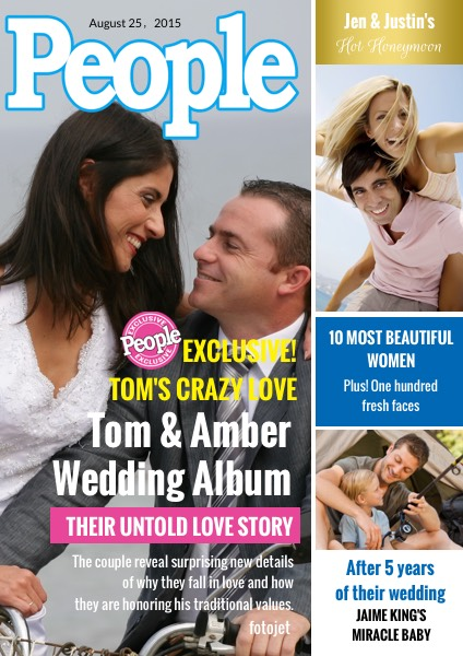 Family Photo People Magazine Cover Design