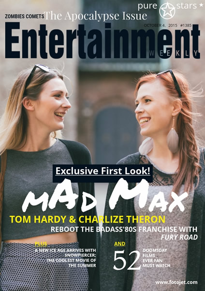 Entertainment Weekly Magazine Cover Design