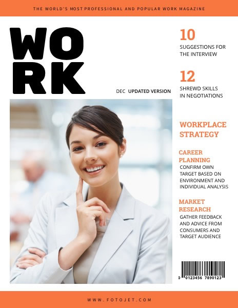 Business Woman Magazine Cover Template