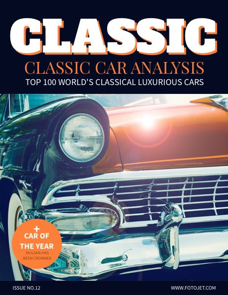 Classic Car Magazine Cover Template