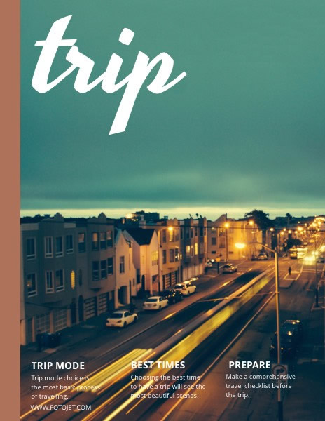 Landscape Travel Magazine Cover Template