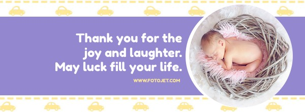 Purple Baby Facebook Cover Photo Template