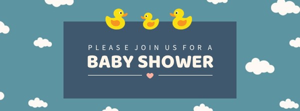 '.Duck Baby Shower Facebook Cover Photo Template.'
