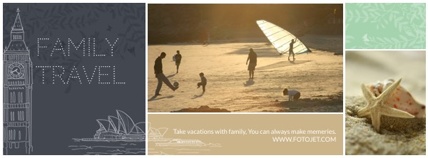 Family Travel Facebook Cover Photo Collage