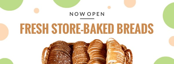 '.Bakery Opening Food Facebook Cover Photo Template.'
