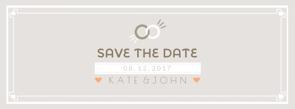 Ring Save the Date Facebook Cover Photo Template