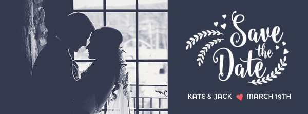 Couple Save the Date Facebook Cover Photo Template