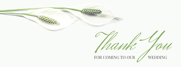 Floral Wedding Thank You Facebook Cover Photo Template
