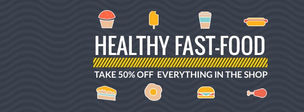 Fast Food Promotion Facebook Cover Photo Template