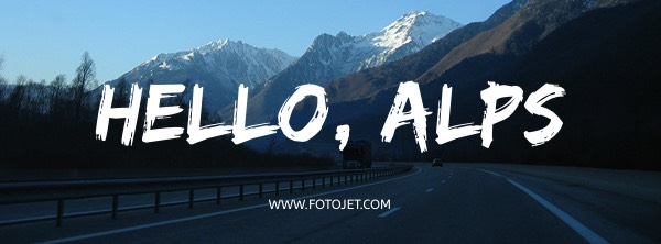Mountain Travel Facebook Cover Photo Template