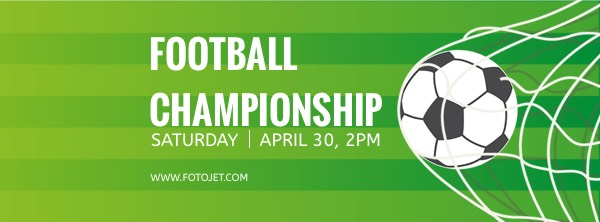Football Championship Sport Facebook Cover Photo Template