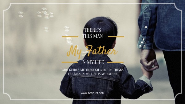 Love for Father YouTube Channel Art Template