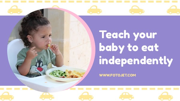 Baby Self Feeding YouTube Thumbnail Template