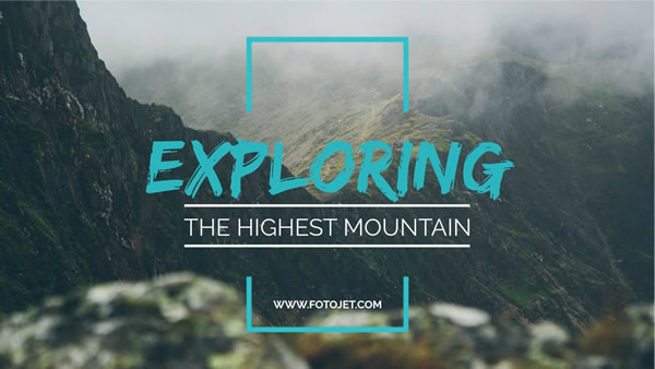 Exploring Mountain YouTube Thumbnail Template