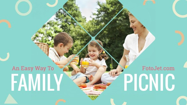 Family Picnic YouTube Thumbnail Template