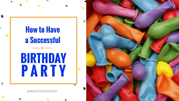 Birthday Party Ideas YouTube Video Thumbnail Template