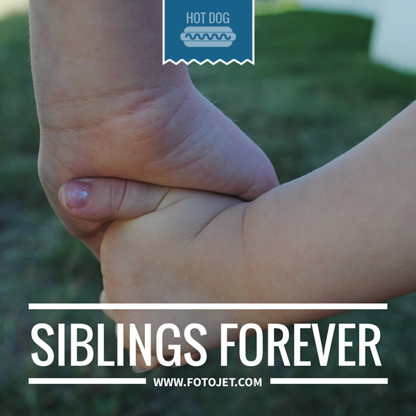 Siblings Forever Instagram Post Template